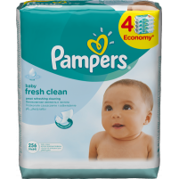 Pampers ubrousky fresh clean 4x64ks